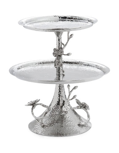 Michael Aram White Orchid Two-Tier Etagere-SILVER-One Size