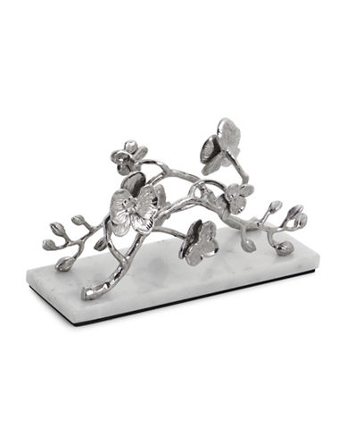 Michael Aram White Orchid Vertical Napkin Holder-SILVER-One Size