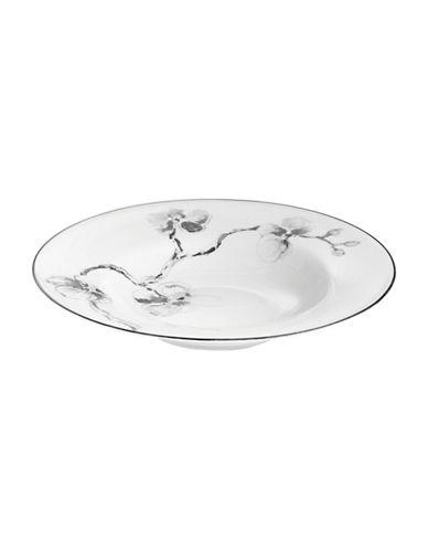 Michael Aram Black Orchid Rimmed Porcelain Bowl-BLACK-One Size