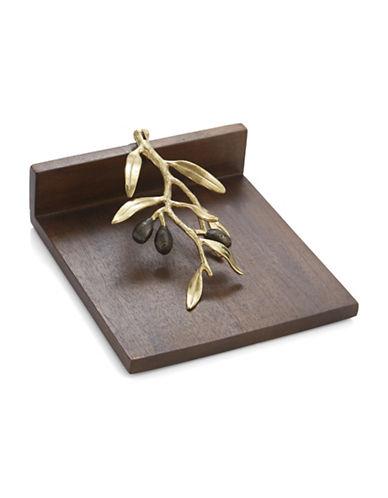 Michael Aram Olive Branch Wooden Dinner Napkin Holder-WOOD-One Size
