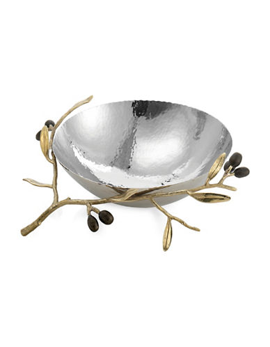 Michael Aram Olive Branch Stainless Steel Bowl-GOLD-One Size