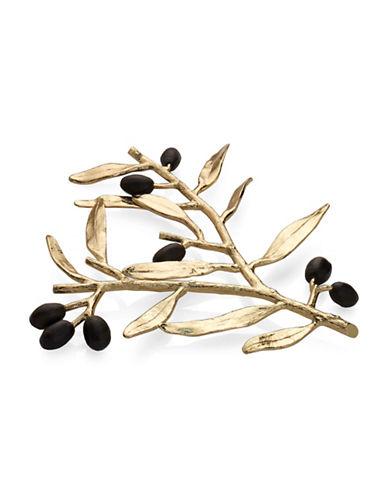 Michael Aram Olive Branch Trivet-GOLD-One Size