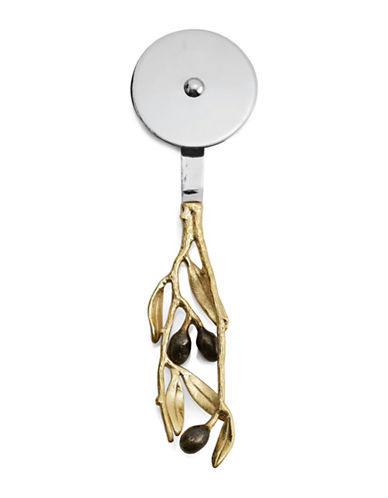 Michael Aram Olive Branch Stainless Steel Pizza Cutter-GOLD-One Size