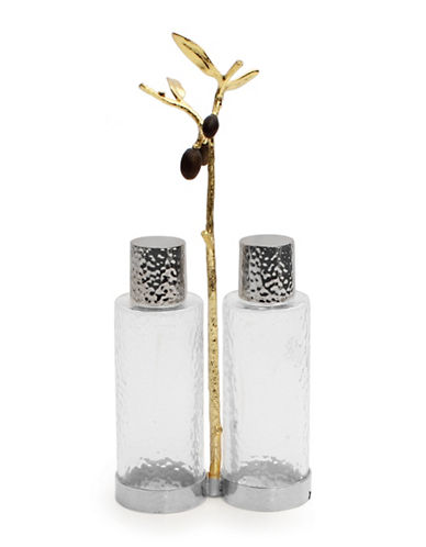 Michael Aram Olive Branch Cruet Caddy-GOLD-One Size