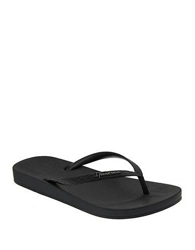 Ipanema Flat Heel Flip Flops-BLACK-10