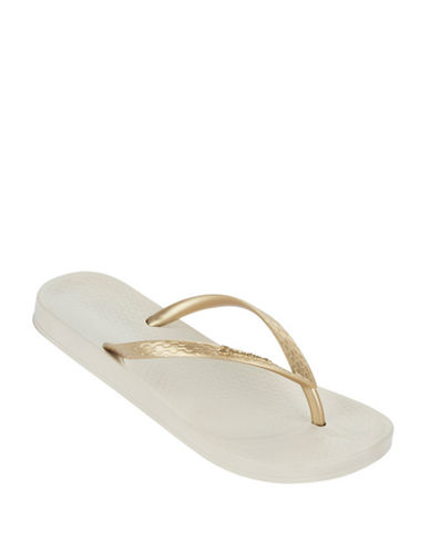 Ipanema Flat Heel Flip Flops-YELLOW/GOLD-10