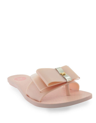Zaxy Jelly Sandals with Bow-NUDE-6