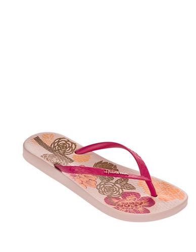 Ipanema Floral Bottom Flip Flops-PINK-8