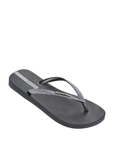 Ipanema Glitter Flip Flops-GREY-5