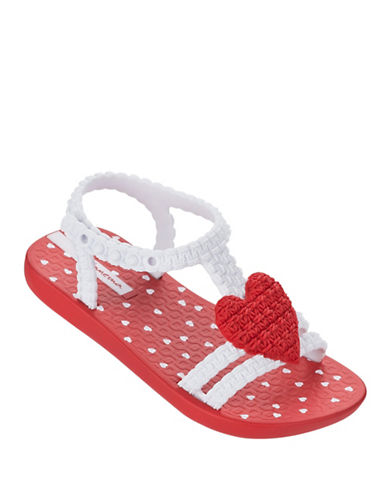 Ipanema Heart Ankle Strap Sandals-RED-6