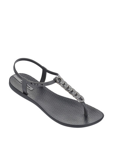 Ipanema Chain Detail Thong Sandals-GREY-10