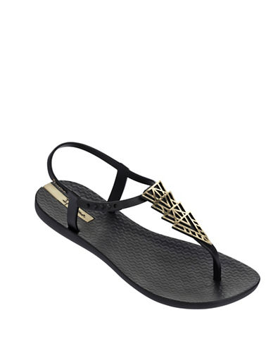 Ipanema Chain Detail Thong Sandals-BLACK-7