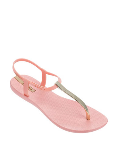 Ipanema Textured Slingback Sandals-PINK/GOLD-5