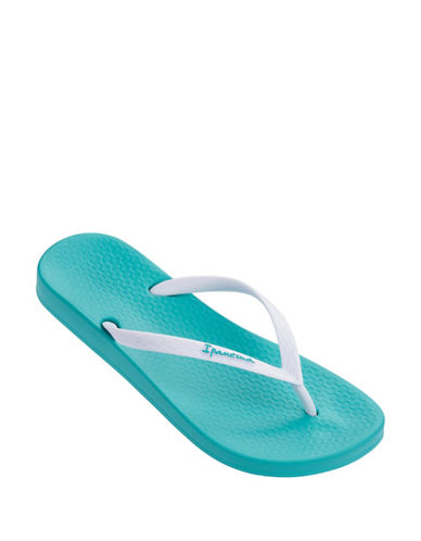 Ipanema Embossed Flip Flops-BLUE/WHITE-7