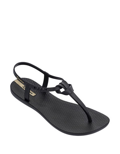 Ipanema Knot Slingback Sandals-BLACK-5