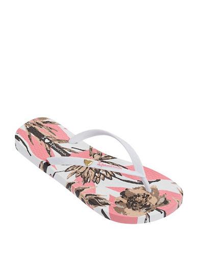 Ipanema Floral-Print Flip Flops-PINK-5