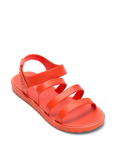 Zaxy Open-Toe Strap Sandals-RED-8