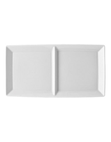 Rosenthal Loft White 2 Part Divided Tray-WHITE-11in