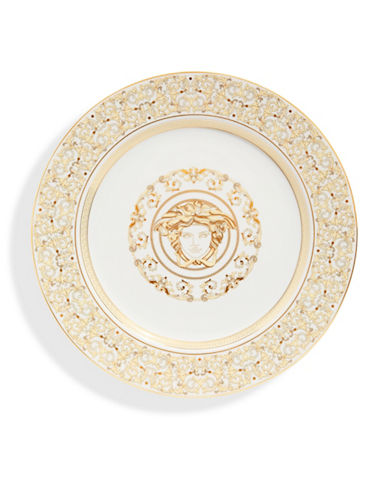 Versace Medusa Gala Serving Plate-WHITE-One Size