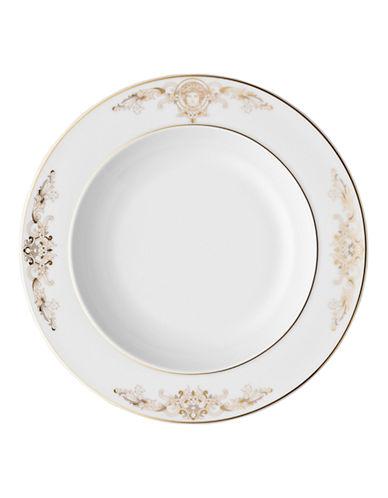 Versace Medusa Gala Rim Soup Bowl-WHITE-8.5 Inches