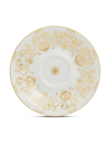 Versace Medusa Gala Coffee Saucer-WHITE-One Size