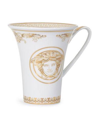 Versace Medusa Gala Cup and Saucer-WHITE-One Size
