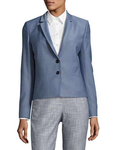 Hugo Aikes Wool Blazer-BLUE-EUR 44/US 12