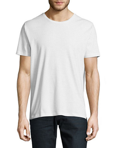Hugo Grid Check T-Shirt-WHITE-Small 88956193_WHITE_Small