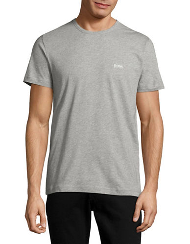 Boss Green Regular Fit Crew Neck T-Shirt-GREY-Medium