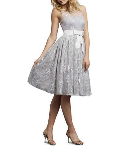 Donna Morgan Libby Illusion Neck Party Dress-WHISPER-10