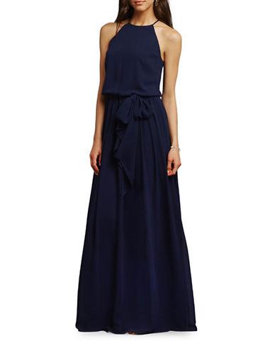 Donna Morgan Alana Draped Blouson Dress-MIDNIGHT-10