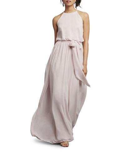 Donna Morgan Alana Draped Blouson Dress-PALEST PINK-12