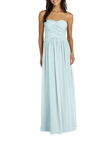 Donna Morgan Audrey Strapless Chiffon Dress-BEACHGLASS-18
