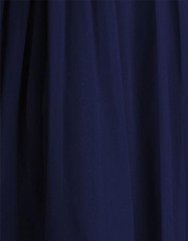 Donna Morgan Chiffon Fabric Swatch-MIDNIGHT-One Size