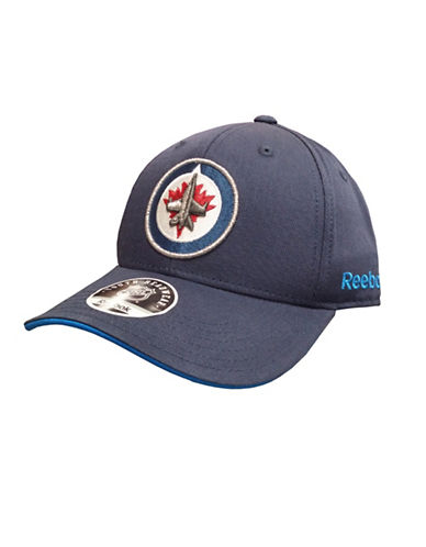 Reebok Winnipeg Jets Youth Core Logo Adjustable Cap-BLUE-One Size