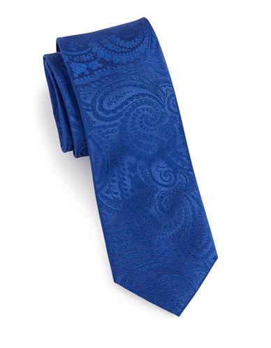 Arrow Jacquard Paisley Silk Tie-BLUE-One Size