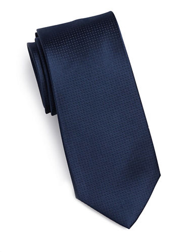 Arrow Dot Silk Tie-NAVY-One Size