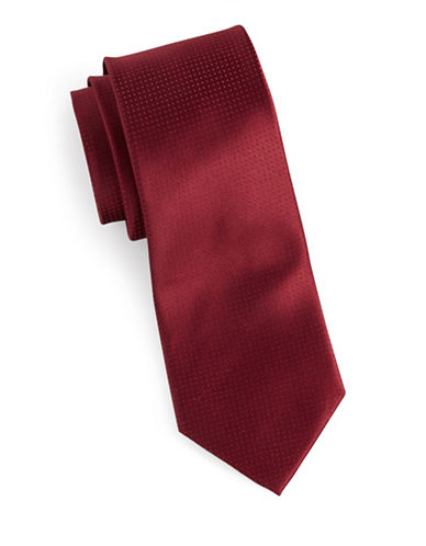 Arrow Dot Silk Tie-RED-One Size