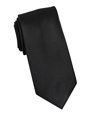 Arrow Dot Silk Tie-BLACK-One Size
