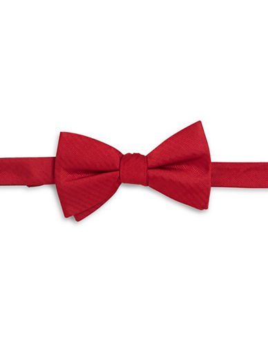 Tommy Hilfiger Solid Silk Bowtie-RED-One Size