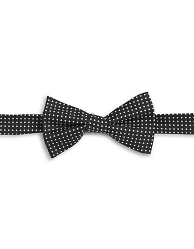 Tommy Hilfiger Polka Dot Silk Bowtie-BLACK-One Size