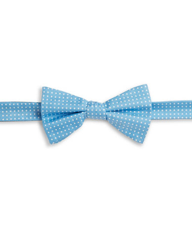 Tommy Hilfiger Polka Dot Silk Bowtie-BLUE-One Size
