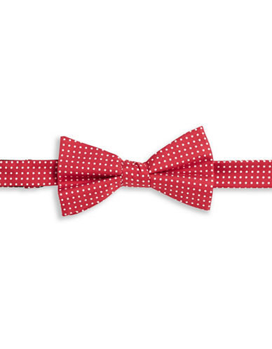 Tommy Hilfiger Polka Dot Silk Bowtie-RED-One Size