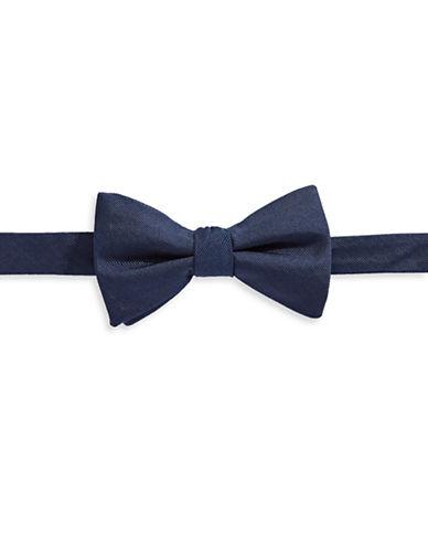 Tommy Hilfiger Geometric Print Silk Bowtie-BLUE-One Size