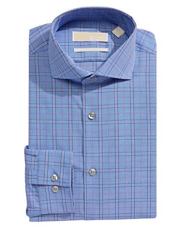 Michael Michael Kors Slim-Fit Plaid Dress Shirt-BLUE VELVET-14-32/33