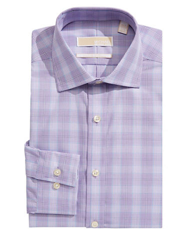 Michael Michael Kors Slim-Fit Plaid Dress Shirt-PURPLE HAZE-14.5-32/33