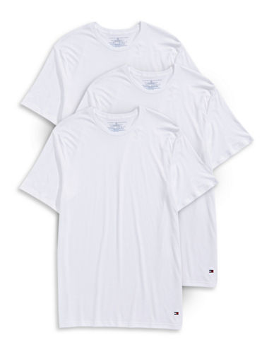 Tommy Hilfiger Three-Pack Crew Neck T-Shirts-WHITE-Small