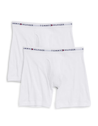 Tommy Hilfiger Two-Pack Boxer Briefs-WHITE-Large