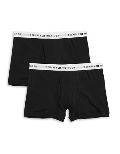 Tommy Hilfiger Two-Pack Classic Trunks-BLACK-Large