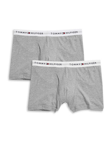 Tommy Hilfiger Two-Pack Classic Trunks-GREY-Large